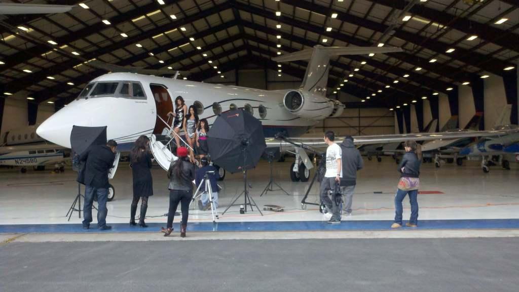 Latina Photo Shoot on Private Jet