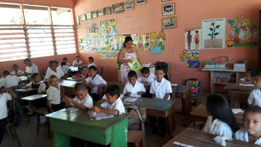 A Classroom in Gloria's school.