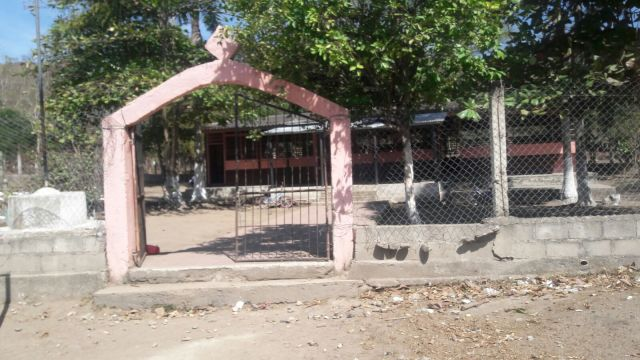 "Gloria's School Entrance, ""Jose Cecilio del Valle."""