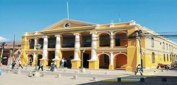 Alcaldia Municipal de Comayagua, where Comayagua's Mayor Carlos Miranda works. Photo, courtesy, Cordelia Fajardo.
