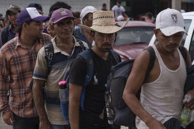 Los migrantes Foto Prensa Libre EFE