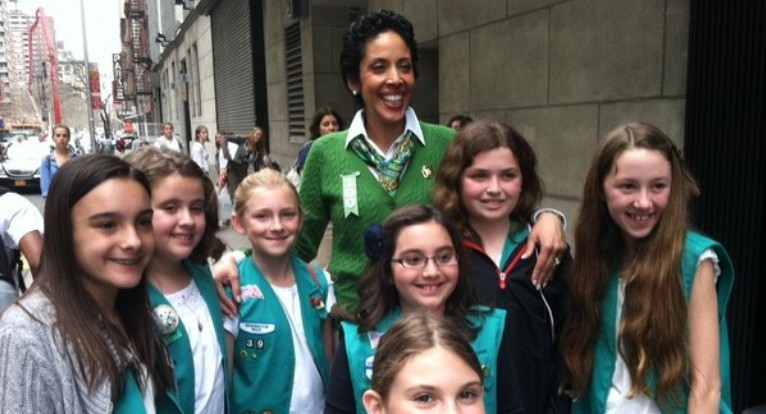 Anna Chavez With Scouts