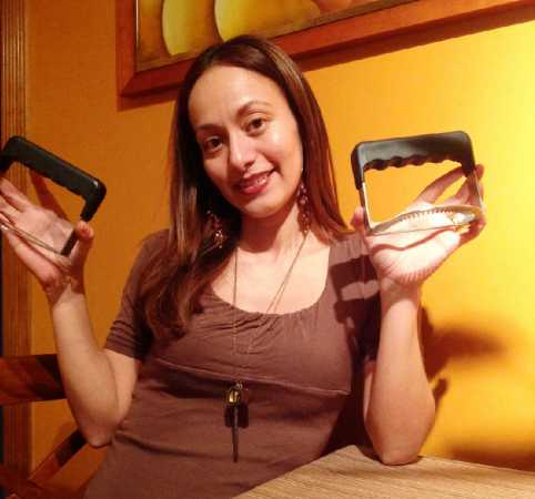 Hipatia Lopez with Empanada Fork, best Holiday gifts