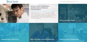 giving back during Holiday Season Koch Foundation website