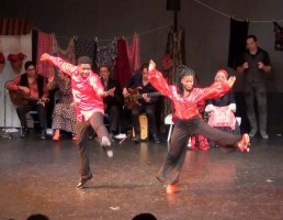 """Federico Garcia Lorca studied at Columbia University in 1929 - 1930, and spent time in Harlem, writing his famous poem """"The King of Harlem"""". Dancers from the NJ Tap Ensemble explore Tap Flamenco - Maurice Chestnut and Karen Calloway Williams."""