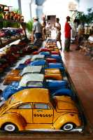 vintage model cars in a souvenir shop in cuba