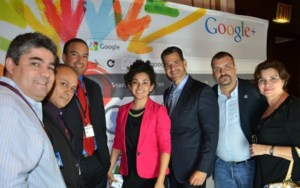Eliana Murillo (center) with friends Luis O De la Hoz (MCRCC), Tayde Aburto, (HECC), Carlos Medina (SHCCNJ), Frank Garcia (NYSCHC) and Reina Valenzuela.