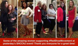 Ladies supporting the Red Shoe Movement