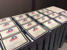 Certificates awarded to Certified Diversity Meeting Professionals