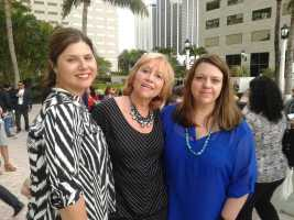DiMedia CO-CEO Cristy Clavijo-Kish of Los Tweens & Teens and Hispanicize Wire. Susana G Baumann, LatinasInBusiness.us, and DiMedia CO-CEO Piera Jolly, of the JollyMom at Hispanicize 2015
