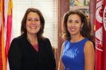 Arlene Quinones-Perez with Perth Amboy Mayor Wilda Diaz.