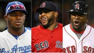 Yasiel Puig, Los Angeles Dodgers; Pablo Sandoval, Boston Red Sox; David Américo Ortiz Arias, Boston Red Sox Latino diversity
