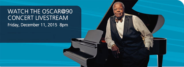 Oscar Peterson @ 90 Livestreamed