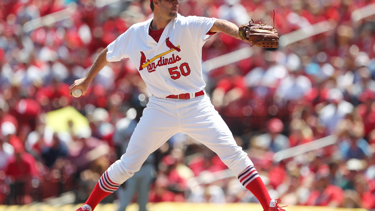 Adam Wainwright Pitcher for the St. Louis Cardinals by Bill Greenblatt