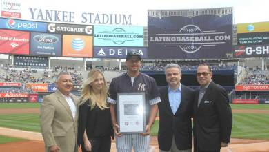 Photo of Alex Rodriguez named LatinoBaseball.com 2015 Player of the Year