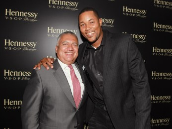 Senior Director Multicultural Marketing at Moet Hennessy Manny Gonzalez and New York Mets pitcher Jeurys Familia are seen at Hennessy V.S.O.P Privilege Celebrates Hennessy All-Star Jeurys Familia at Stage 48 on Monday, June 20, 2016, in New York. (Photo by Donald Traill/Invision for Hennessy V.S.O.P Privilege/AP Images)