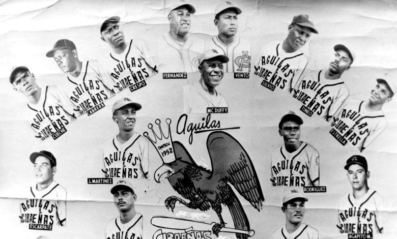 Members of Santiago's Águilas Cibaeñas 1952 championship team.