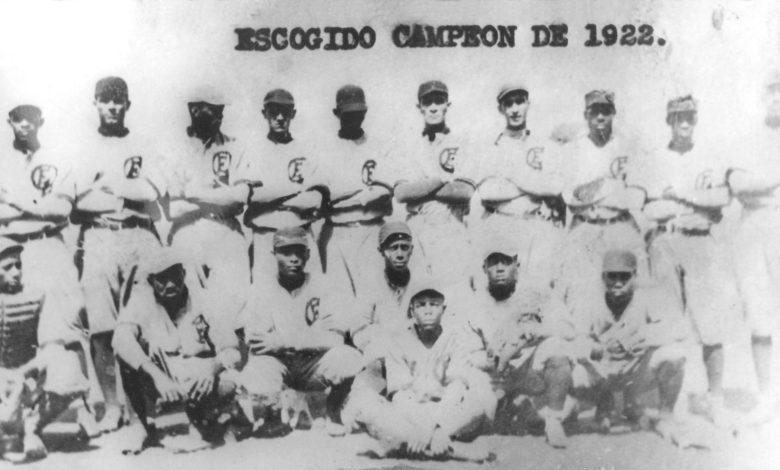 Santo Domingo's Leones del Escogido's championship team of 1922.