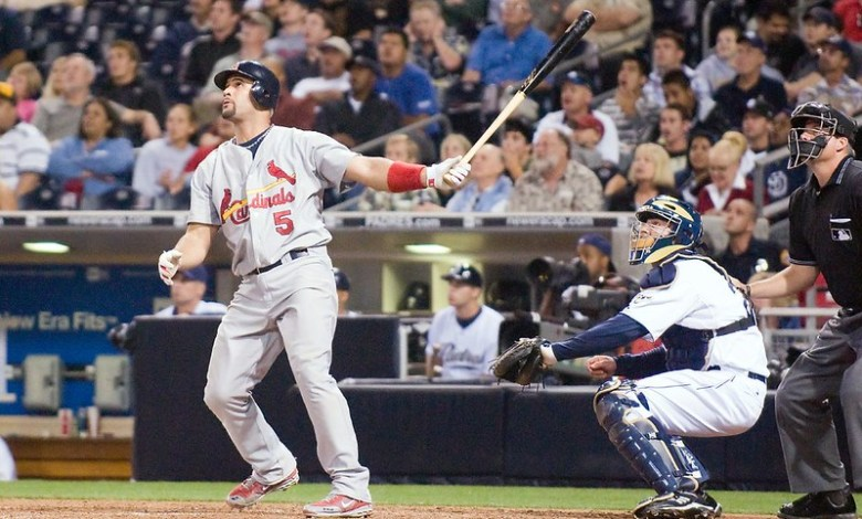 ALBERT PUJOLS, 3,297:  The fearsome slugger, now a Dodger, will crack the Top 10 career hits list if he passes Paul Molitor's 3,319.