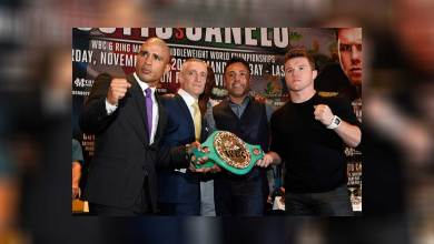 Photo of Miguel Cotto and Canelo Alvarez's New York Press Conference