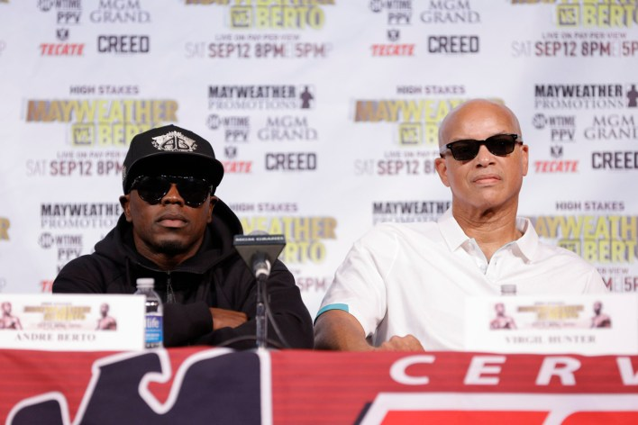 Andre Berto and Virgil Hunter