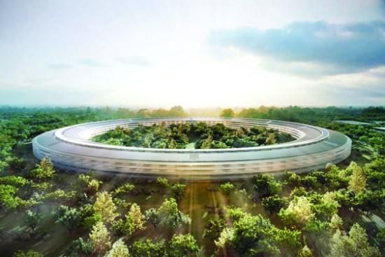 Apple es la compañía líder en ganancias a nivel mundial, donde las 10 primeras son estadounidenses. EN la gráfica el futuristico Centro Apple que la compañía estará terminando en Palo Alto, Ca, para el 2025./ARCHIVO-