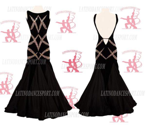 LATINODANCESPORT.COM-Ballroom STANDARD SMOOTH Dance Dress-SDS-11