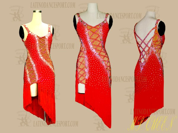 LDS-03 BALLROOM LATIN RHYTHM TAILORED DANCE DRESS STONED COMPETITION