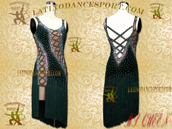 LDS-003 LATINODANCESPORT BALLROOM DANCE LATIN DRESS TAILORED COMPETITION