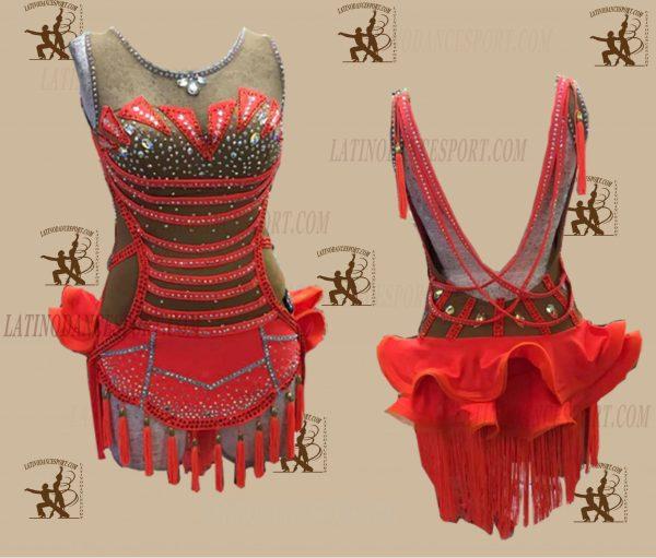 LATINODANCESPORT.COM-Ballroom LATIN RHYTHM Dance Dress-LDS-25