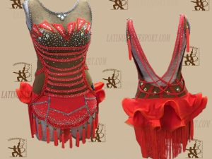 LATINODANCESPORT.COM-Ballroom LATIN RHYTHM Dance Dress-LDS-25