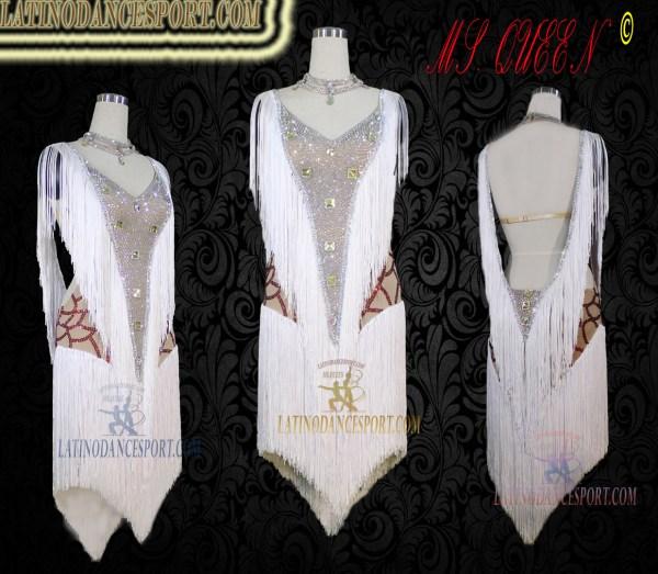 LATINODANCESPORT.COM-Ballroom Latin Rhythm Dance Dress-LDS-28