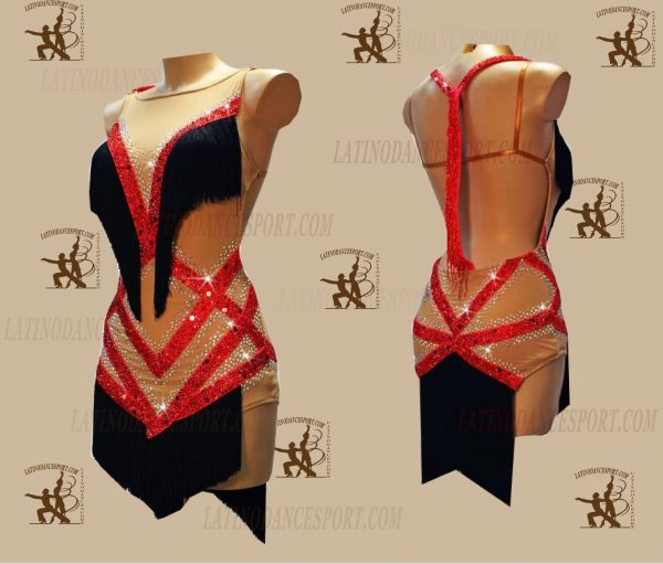 LATINODANCESPORT.COM-Ballroom LATIN RHYTHM Dance Dress-LDS-56