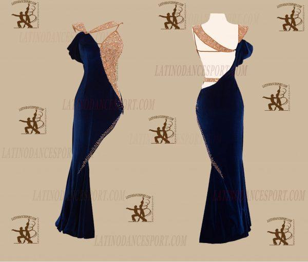 LATINODANCESPORT.COM-Ballroom LATIN RHYTHM Dance Dress-LDS-58