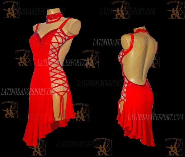 LATINODANCESPORT.COM-Ballroom LATIN RHYTHM Dance Dress-LDS-59