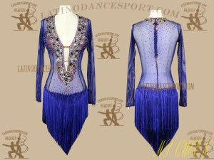LATINODANCESPORT.COM-Ballroom LATIN RHYTHM Dance Dress-LDS-60