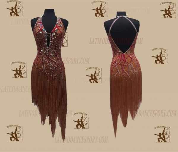 LATINODANCESPORT.COM-Ballroom LATIN RHYTHM Dance Dress-LDS-62