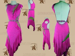 LATINODANCESPORT.COM-Ballroom LATIN RHYTHM Dance Dress-LDS-65