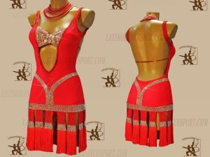 LATINODANCESPORT.COM-Ballroom LATIN RHYTHM Dance Dress-LDS-71