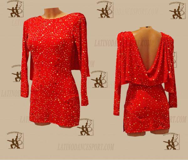LATINODANCESPORT.COM-Ballroom LATIN RHYTHM Dance Dress-LDS-75