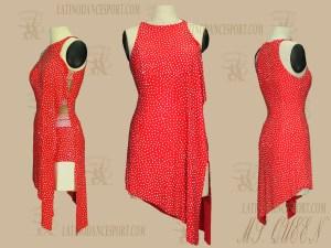 LATINODANCESPORT.COM-Ballroom LATIN RHYTHM Dance Dress-LDS-61