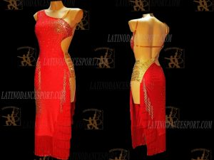 LATINODANCESPORT.COM-Ballroom Latin Rhythm Dance Dress-LDS-79