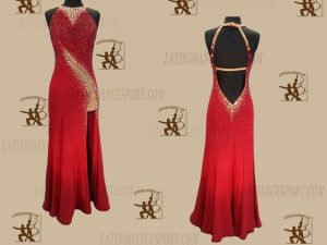 Latinodancesport.com-Ballroom Standard Smooth Dance Dress-SDS-36