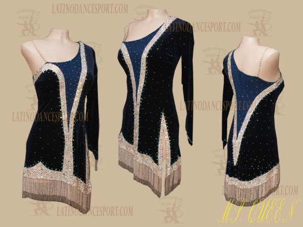 LATINODANCESPORT.COM-Ballroom Latin Rhythm Dance Dress-LDS-83