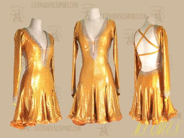 LATINODANCESPORT.COM-Ballroom Latin Rhythm Dance Dress-LDS-86