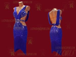 LATINODANCESPORT.COM-Ballroom Latin Rhythm Dance Dress-LDS-91