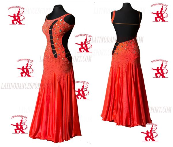 Latinodancesport.com-Ballroom Standard Smooth Dance Dress-SDS-41