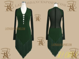 LDS-23-Ballroom Latin Dance Dress Tailored No Stones
