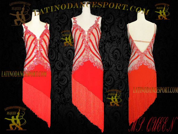 Latinodancesport Ballroom Dance LDS-66 Latin Dress Tailored
