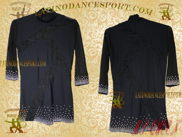 Latinodancesport Ballroom Dance Menswear MDS-08 Latin Shirt Body Tailored